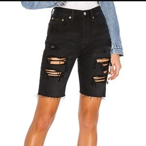 501® Ripped Slouch Shorts